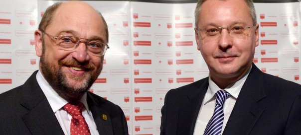 Martin Schulz and Sergei Stanishev. Photo: PES/Eric Vidal via flickr.com