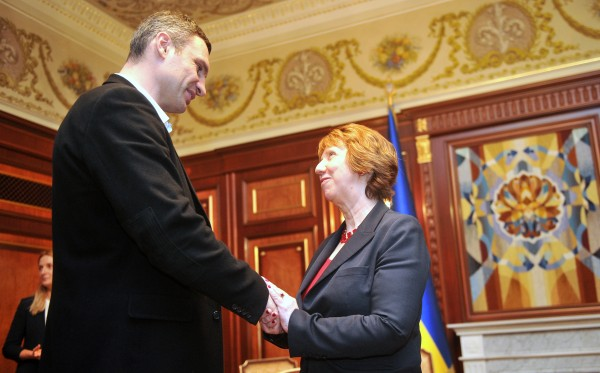 Vitali Klitschko and EU foreign policy chief Catherine Ashton in Kyiv, February 24 2014. Photo: EC Audiovisual Service