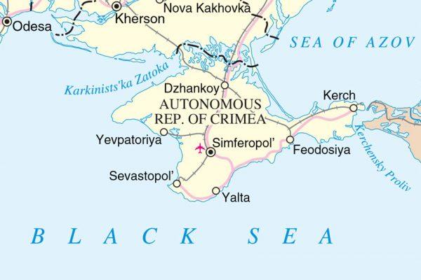 Map of Crimea. Source: UN Cartographic Section, DFS