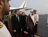 Bulgarian President Rossen Plevneliev arriving on his three-day visit to Qatar. Photo: president.bg)