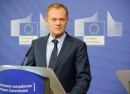 Donald Tusk at the podium
