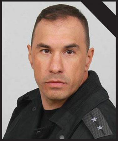 Emil Sharkov, the police officer who died in the Lyaskovets shootout on March 14.  Photo: Interior Ministry press centre