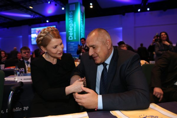 Yulia Tymoshenko and Boiko Borissov at the EPP congress in Dublin on March 6. Photo: epp.eu via flickr.com