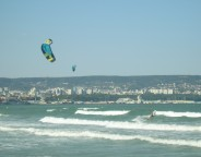Bulgarian Black Sea beach seaside Varna kite surfing photo copyright Clive Leviev-Sawyer
