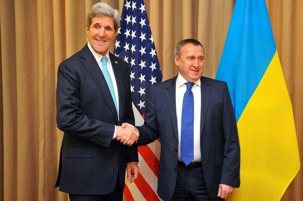 Kerry and Ukrainian foreign minister Deshchytsia