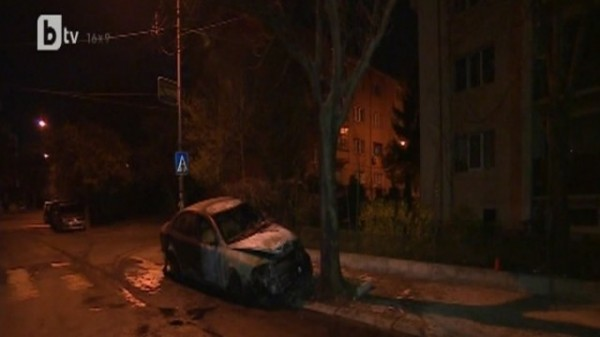 Shikerova's car after the April 2 2014 fire. Photo: bTV