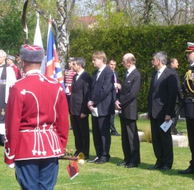plevneliev edward duke of kent jonathan allen konstantin dimitrov world war 1 commemoration sofia photo clive leviev-sawyer