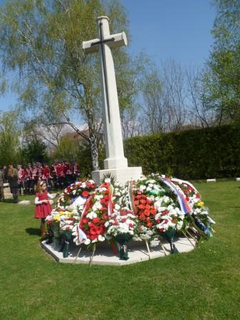 wreaths world war 1 commemoration ceremony sofia april 8 2014 photo clive leviev-sawyer