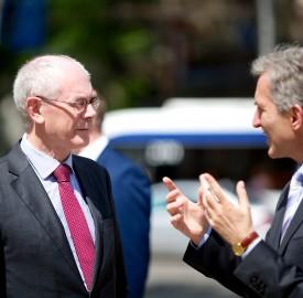 European Council President Herman Van Rompuy with Iurie Leanca, prime minister of Moldova.  Photo: Council of the European Union