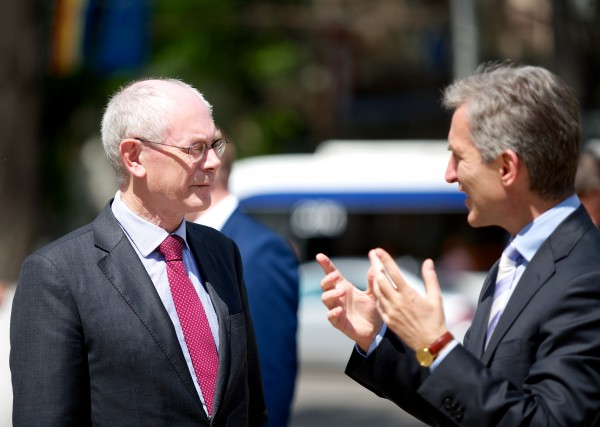 European Council President Herman Van Rompuy with Iurie Leanca, prime minister of Moldova.  Photo: Council of the European Union
