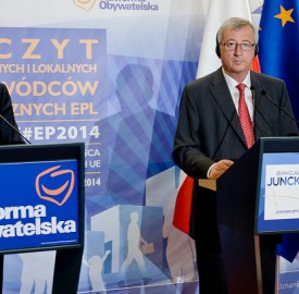 Polish prime minister Donald Tusk and Jean-Claude Juncker, the EPP nominee for European Commission president, in Poznan on April 25. Photo: Jean-Claude Juncker/flickr.com