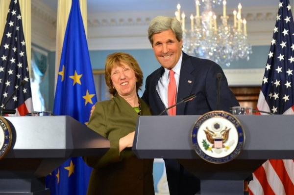 EU foreign policy chief Catherine Ashton and US secretary of state John Kerry.   Photo: US state department via flickr.com