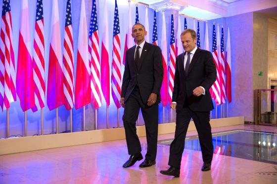 US president Obama and Polish prime minister Donald Tusk. Official White House Photo: Pete Souza.