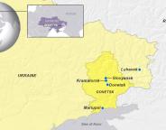 cities of donestsk ukraine map voa