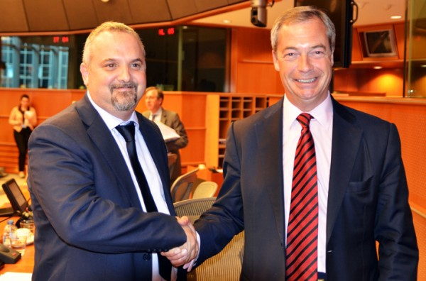 David Borrelli and Nigel Farage