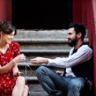 Still of Keira Knightley and Adam Levine in Begin Again. Photo by Andrew Schwartz - © 2014 The Weinstein Company. All rights reserved.