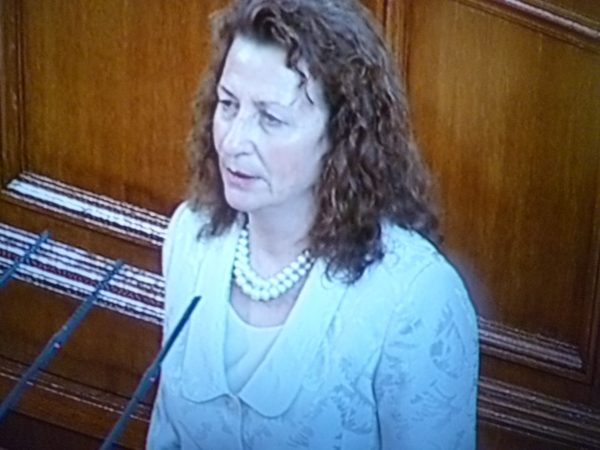 GERB's Tsonka Kasnakova-Ilieva takes the oath as an MP on July 24, in a Parliament that will be dissolved on August 6.