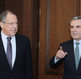 Russian foreign minister Sergey Lavrov and Bulgarian Prime Minister Plamen Oresharski meet in Sofia on July 7 2014. Photo: government.bg