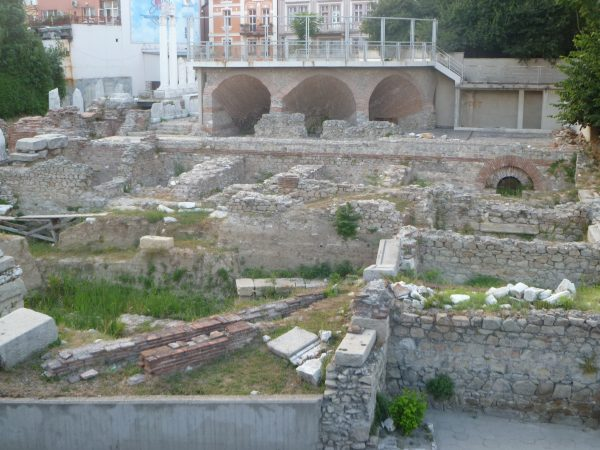 The Odeon archaeological site in Plovdiv.  Photo: Clive Leviev-Sawyer