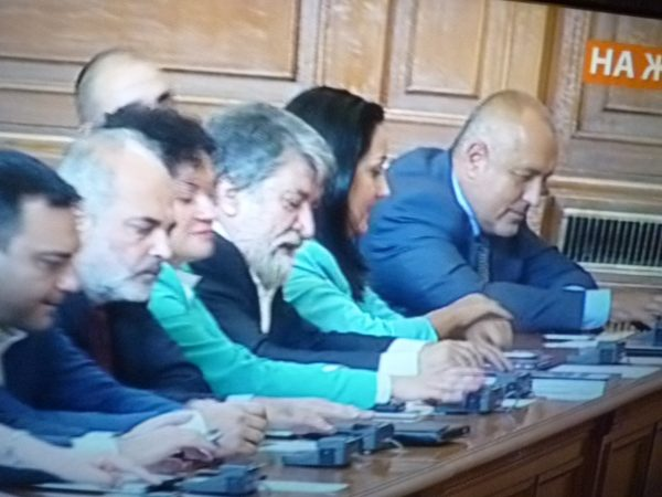 Boiko Borissov and GERB MPs vote for the resignation of the government.