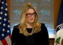 State Department spokeswoman Marie Harf is seen at a daily briefing at the State Department in Washington, D.C.