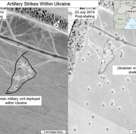 US Russia Ukraine shelling satellite