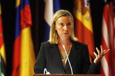 Mogherini Italian foreign ministry-crop