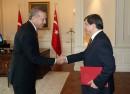 (Photo of Erdogan, left, and Davutoglu: Turkish presidency)