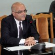 Yordan Balalov, at the time that he was caretaker Interior Minister, at a September 23 2014 news conference.  Photo: mvr.bg