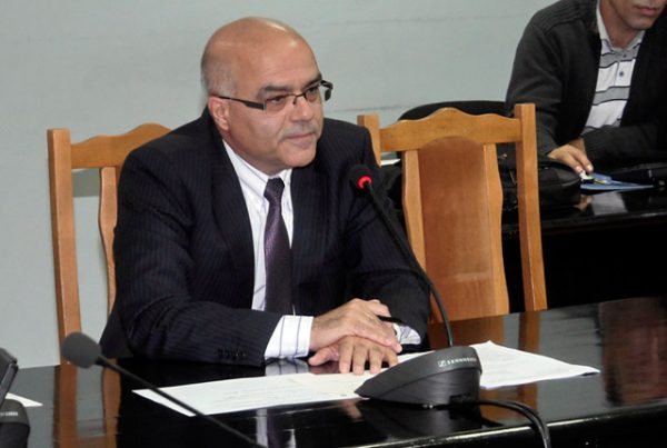 Yordan Balalov, caretaker Interior Minister, at the September 23 news conference.  Photo: mvr.bg