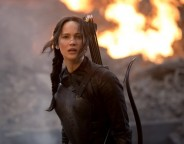 Still of Jennifer Lawrence in The Hunger Games: Mockingjay - Part 1. Photo by Murray Close - © 2014 - Lionsgate