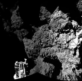 Lander Philae is safely on the surface of Comet 67P Churyumov-Gerasimenko