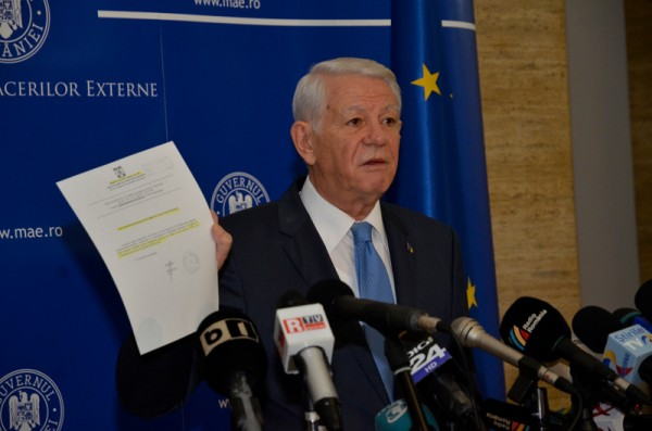 Teodor Melescanu was the second foreign minister to resign in as many weeks over the organisation of presidential elections abroad. Photo: mae.ro