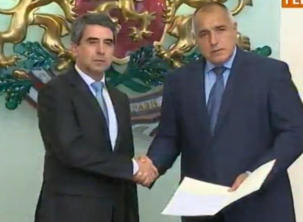 President Rossen Plevneliev and Prime Minister-designate Boiko Borissov, November 6 2014.
