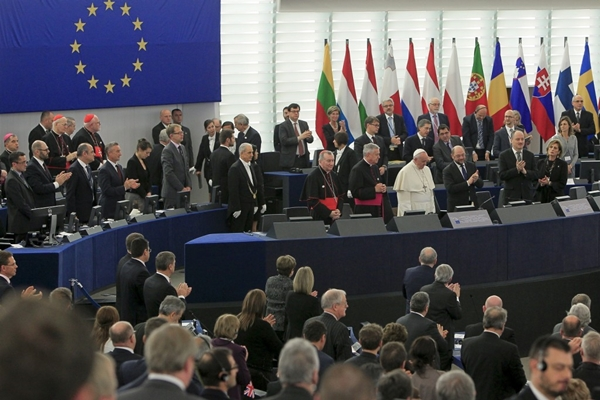 European Parliament elections in May 2014 saw victory for the centre-right European People's Party, which reached a deal with left-wing and liberal EP groups on the leadership of the bloc. Jean-Claude Juncker became the new European Commission President and Poland's Donald Tusk the President of the European Council, with Juncker's defeated rival for the European Commission Presidency, Martin Schulz, reprising his role as European Parliament President, and Italy's Federica Mogherini being handed the EU foreign policy chief post. Euroskeptic parties made gains but remained in opposition. In November, Pope Francis was a guest at the European Parliament, telling MEPs that they have 'the responsibility for keeping democracy alive for the peoples of Europe'.