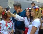 Boris Nemtsov during the Vyshyvanka Rally in Ukraine's Odesa, June 2014.