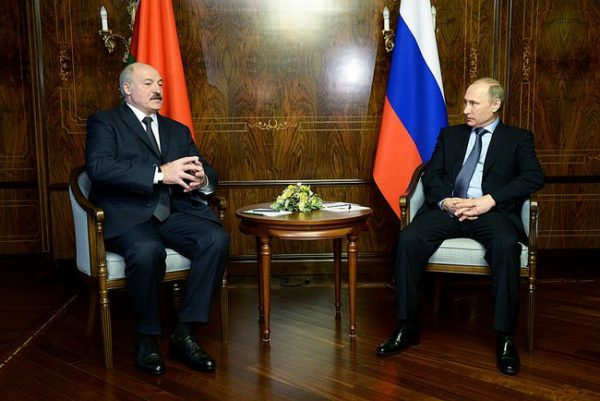 Belarus's Aleksander Lukashenko and Vladimir Putin, February 8, photo: kremlin.ru