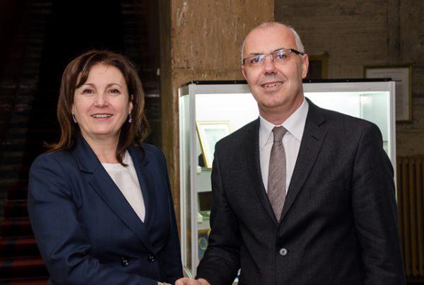 Buchvarova and Vuchkov at a handover ceremony at the Interior Ministry, March 11. Photo: mvr.bg