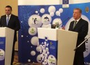 Bulgarian transport minister Ivailo Moskovski and EU environment Karmenu Vella-crop