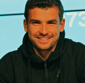 Grigor Dimitrov on the sidelines of the Rotterdam Open in February 2015. Photo: Marianne Bevis/flickr.com