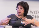 Ukrainian Finance Minister Natalie Jaresko speaks at the World Economic Forum in Davos in January 2015. Photo: World Economic Forum/flickr.com