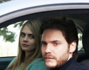 Still of Daniel Brühl and Cara Delevingne in The Face of an Angel.
