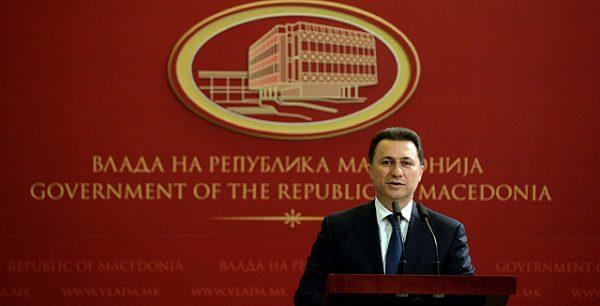 Macedonian prime minister Nikola Gruevski. Photo: vlada.mk