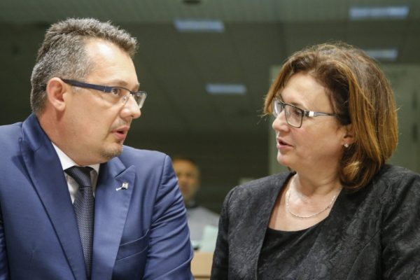 Bogdan TOHANEANU, State Secretary, Romanian Ministry of Internal Affairs; Ms Rumyana BACHVAROVA, Bulgarian Deputy Prime Minister and Minister for the Interior