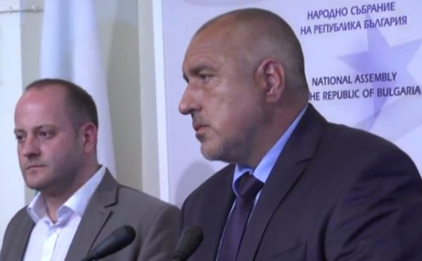 Radan Kanev and Boiko Borissov on July 21, at the time of the 'historic compromise' on the constitutional amendments towards judicial reform.