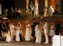 three marry on stage at plovdiv ancient theatre photo podtepeto com