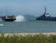 Allied forces practice amphibious assault near Ustka, northern Poland, on 17 June 2015