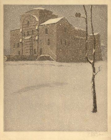 St Sofia Church, Sofia. 1910, aquatint. 29x23.5_ 32.7x25.5 cm