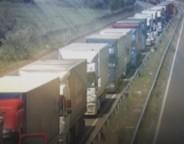 lorries at serbia croatia border