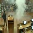 Albin-Kurti-throws teargas in Kosovo parliament
